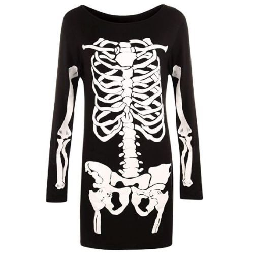Camiseta Esqueleto Mujer