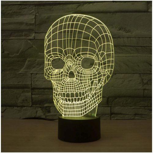 Lampara Cráneo Multicolor